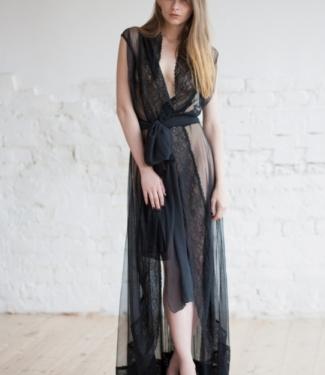 Халат из сетчатой ткани без рукавов Opium Luxury L703