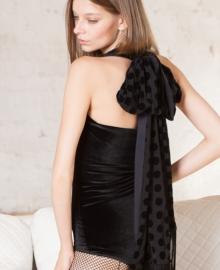 Боди из бархата с шарфом Opium Luxury L109