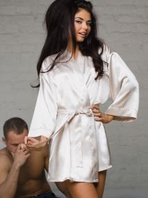 Кимоно из атласной ткани Istinto di Opium 701